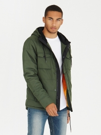 Offshore Parka Jacket Khaki Green