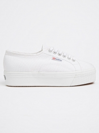 Superga Classic Canvas Wedges Sneakers White