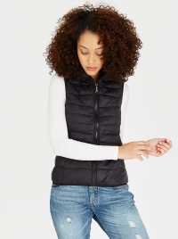 Tahoe Hooded Sleeveless Puffer Jacket Black