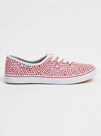 Tomy Geometric Print Sneakers Red