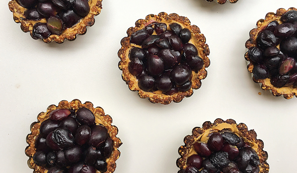 peanut butter and grape tarts