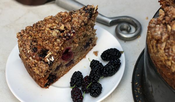 Mulberry Crumb Cake