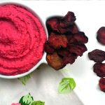 Beet Hummus with Beet Chips