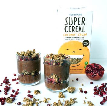 Herbivore Super Cereal - Cocoa coconut chia parfait