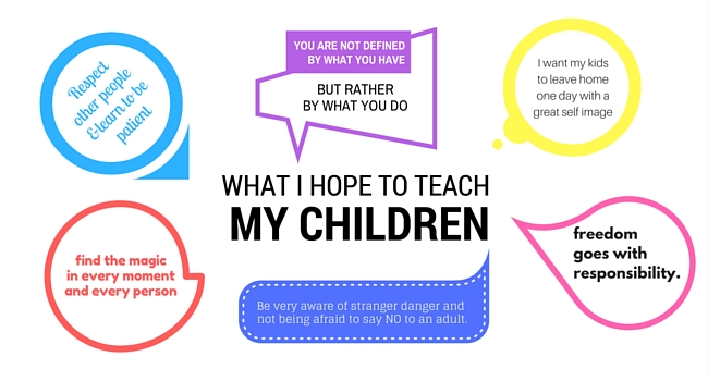 Lessons I hope to Teach My Children