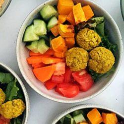 Turmeric Falafel Vegetables Bowls