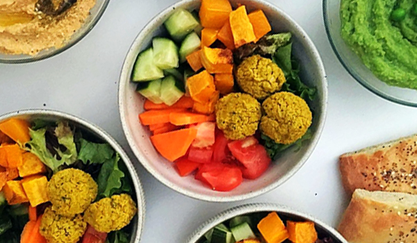 Turmeric Falafel Vegetables Bowls