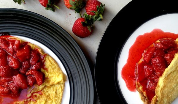 Sweet Omelette with Strawberries