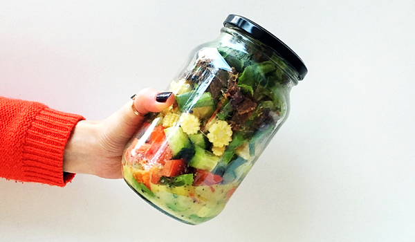 Biltong Salad in a Jar [Not a Sad Desk Lunch]