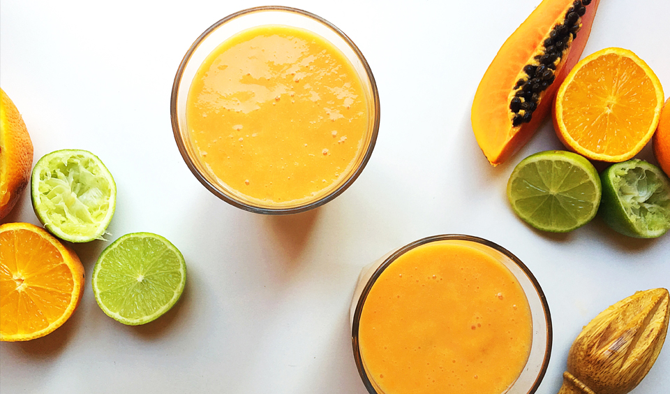 Papaya, Coconut and Citrus Smoothie