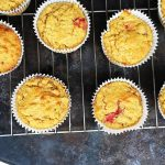 Roasted Strawberry Banana Oat Muffins [Gluten Free, Dairy Free Refined Sugar Free]