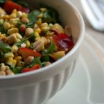 Green Salad with Corn and Nectarines