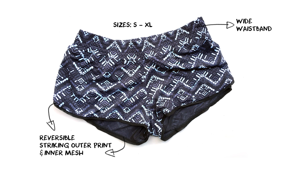 The Best Running Shorts for Women this Summer - Maaji Reversible Ink Short