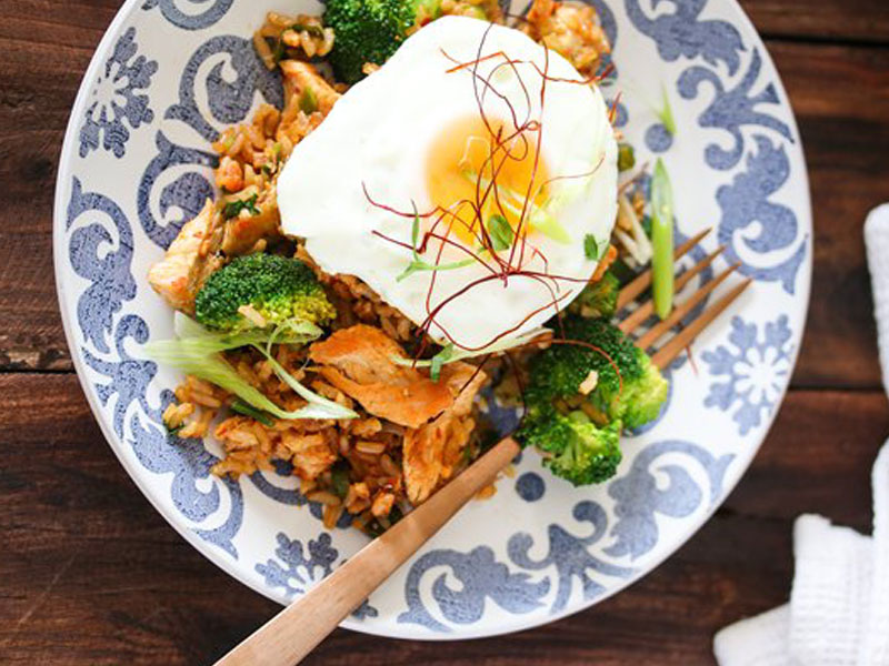Hot and Spicy Recipes - Nasi Goreng with Chicken & Broccoli