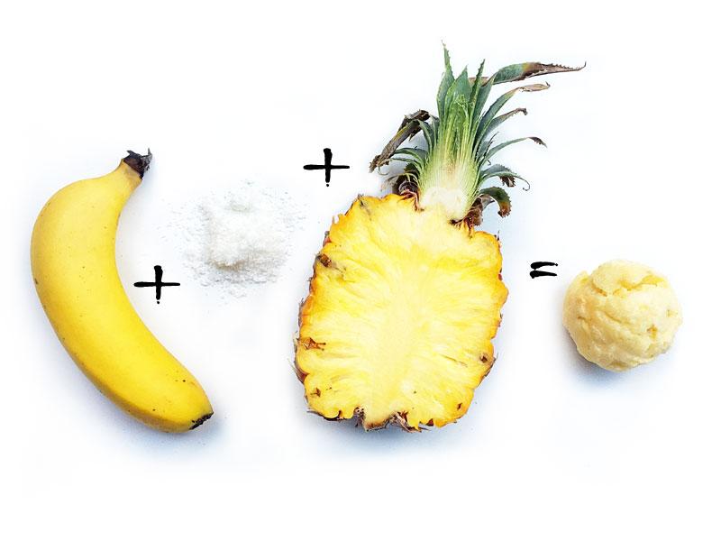Pineapple Coconut Nice Cream