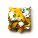 Roasted Butternut, Caramelised Onion and Goats Cheese Rye Flatbread