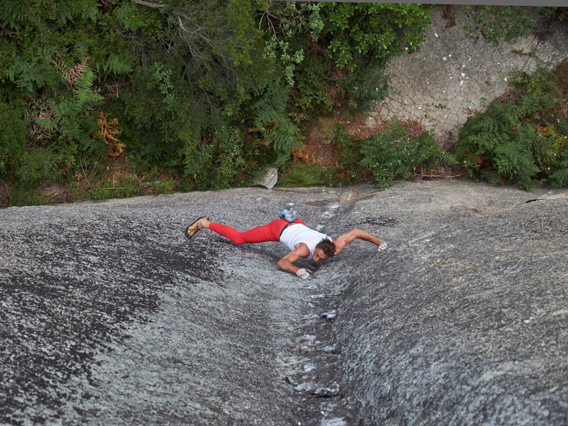 Matt Bush, the Free Solo Climbing Artist hanging by a dream