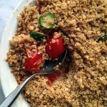 Savory parmesan and vegetable crumble
