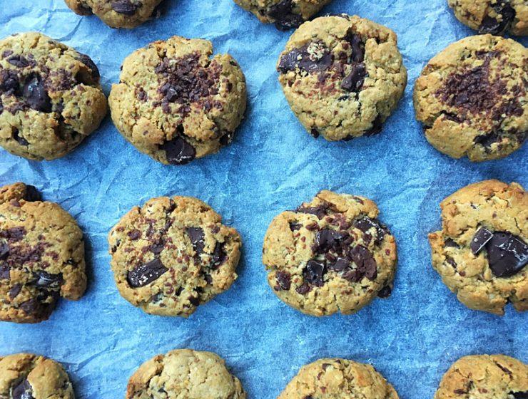 Gluten Free, Nut Free and Vegan Chocolate Chip Cookies