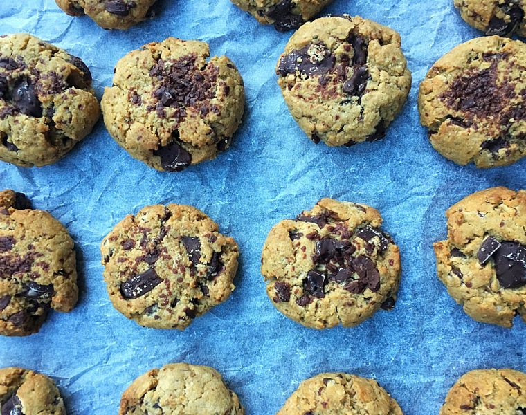 Gluten Free, Nut Free and Vegan Chocolate Chip Cookies