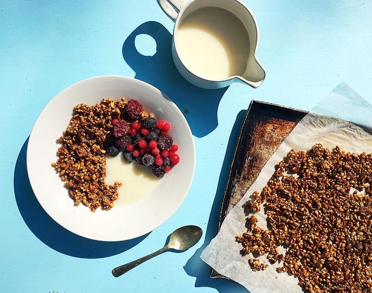 Seedy Buckwheat Granola (Nut Free, Vegan, Gluten Free)