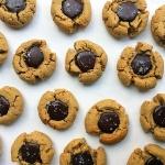 Peanut Butter Chocolate Thumbprint Cookiea