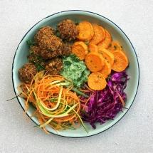 Lentil Meatballs and a Buddha Bowls