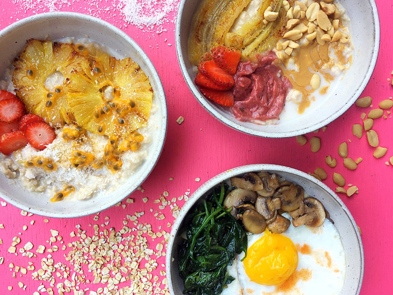 3 Breakfast Oatmeal Recipes