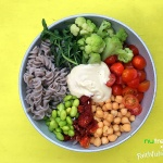 Spring Buckwheat Pasta Salad with Tahini