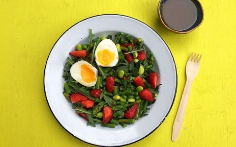 Asparagus, Edamame and Egg