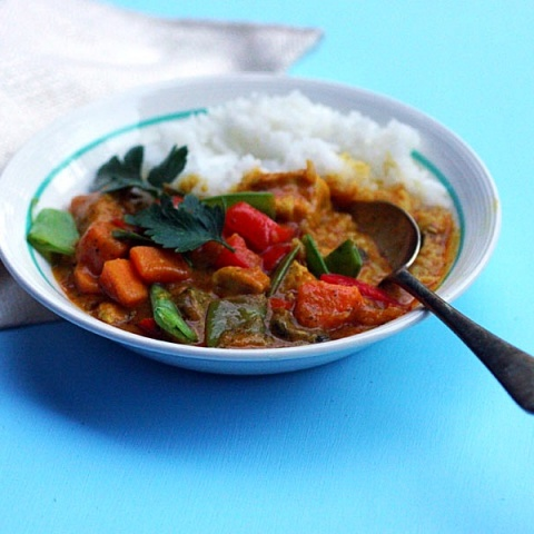 Peanut Coconut Chicken Curry