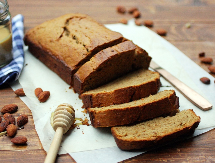One Bowl Peanut Butter Banana Bread