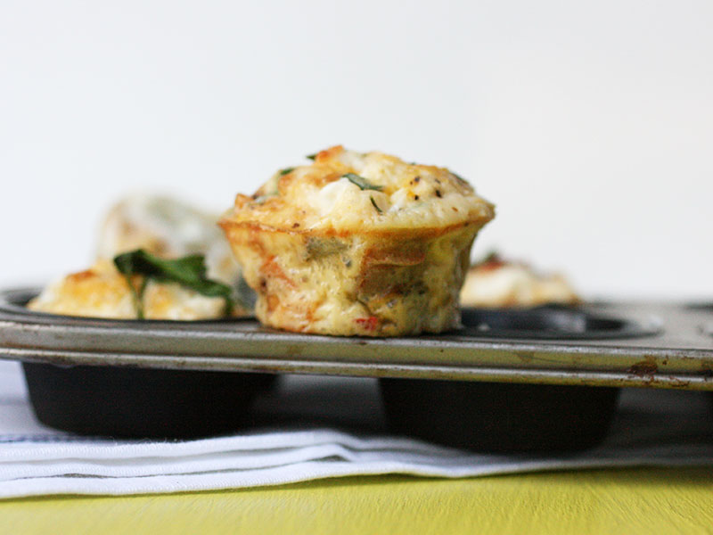 Egg, Feta and Vegetable Breakfast Muffins
