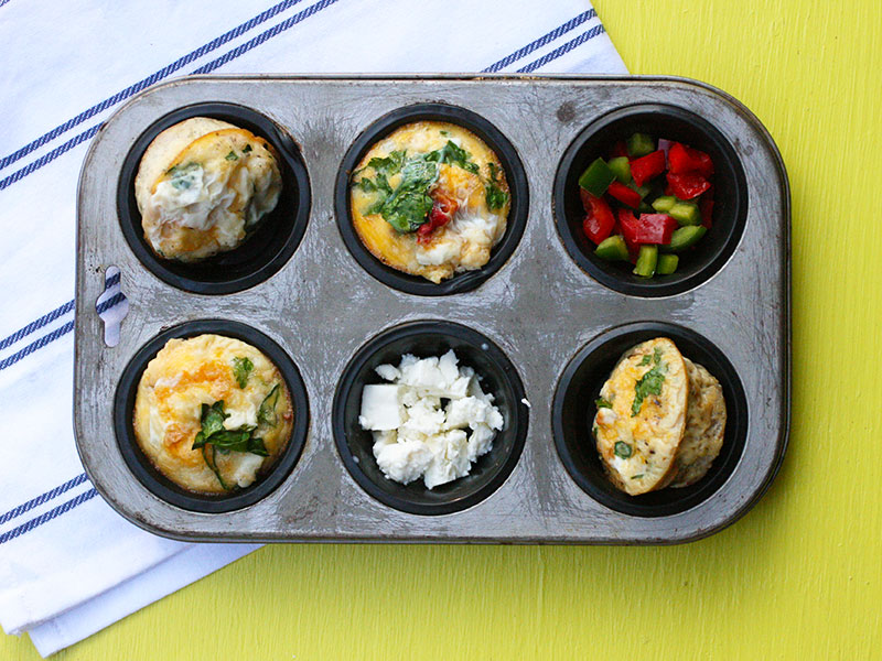 Egg, Feta and Vegetable Breakfast Muffins