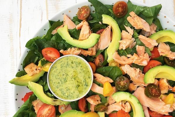 Salmon Salad with Dill Sauce