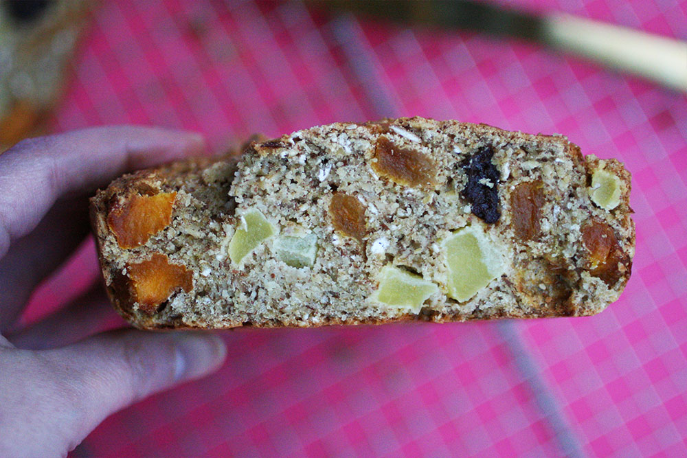 Almond Oat and Fruit Loaf