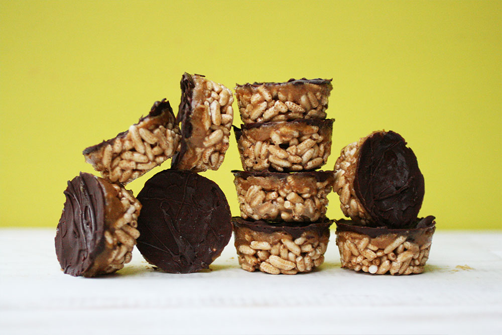 3 Layer Tahini Rice Crispy Cup