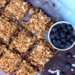 Rhubarb & Blueberry Coconut Bars