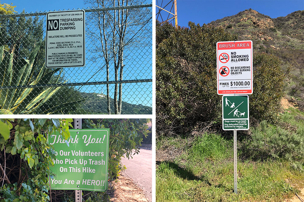 Hiking Los Angeles Two Trails Not to Miss signs