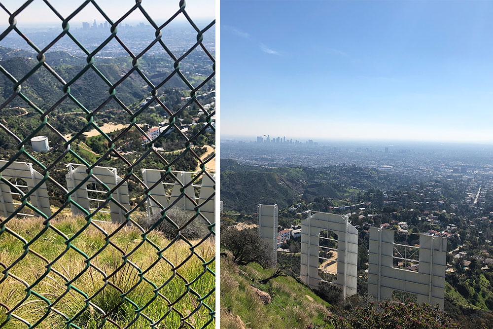Hiking Los Angeles Two Trails Not to miss hollywood sign
