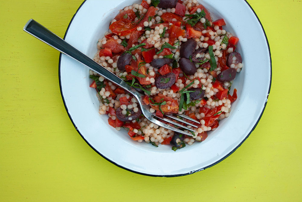Herby Pearled Couscous and Tomato Salad