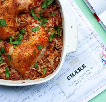 The Pastorie Chicken from SHARE, a nostalgic cookbook of South African Community Recipes