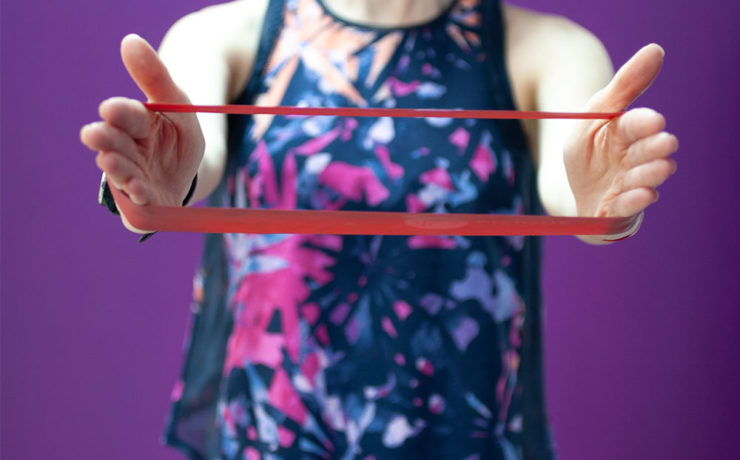 At Home Exercise Band Workout