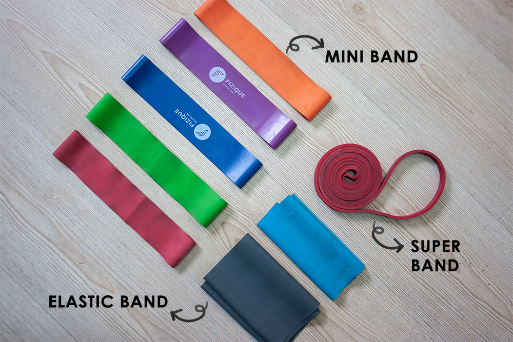 An at Home Resistance Bands Workout - types of bands