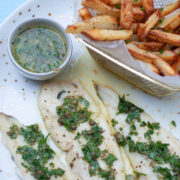 Grilled Lemon and Herb Fish and Chips