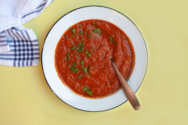 Pantry Staple Tomato and Chickpea Soup