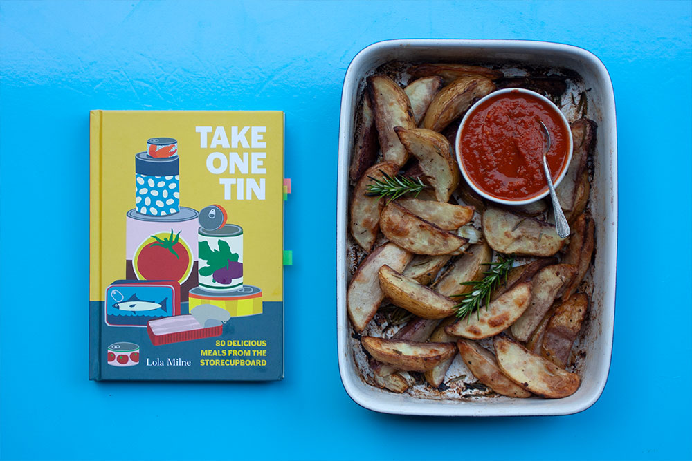 Sticky Potatoes with Spicy Tomato Sauce from Take One Tin