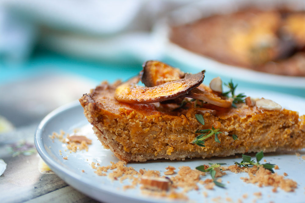 Roasted Butternut and Almond Quiche from Jan A Breath of French Air
