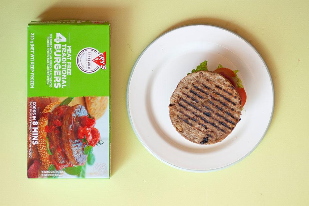 The Best Plant Based Burger A Nutreats Taste Test - Frys Family Burger 1