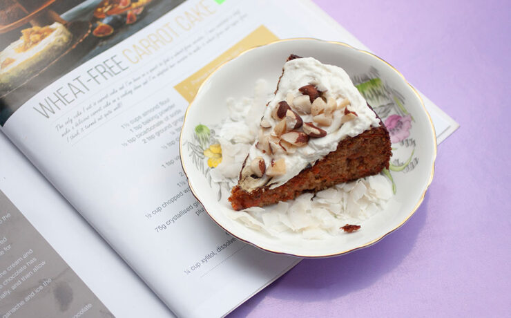 Wheat and Gluten Free Carrot Cake from Home Food [Sugar + Dairy Free]